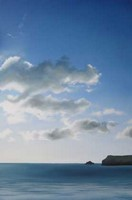 Warm sun, scattered cloud, Polzeath by Nicola Wakeling