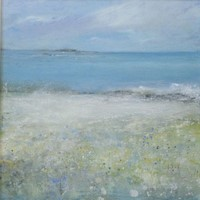 Sand and rocks, Appletree Bay by Lucy Dove Wright