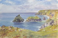 Gull Rock and Asparagus Islands, Kynance by David Rust
