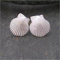 Scallop studs<br>Earings from £68 by Fay Page