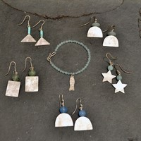 Earings from £59<br>Bracelets from £41<br>Necklaces from£81 by Sarah Watson