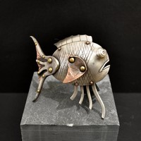 Recycled Cutlery Sculpture<br>Crab and Spoon fish<br>from £135 / Lobster from  £ 850 by Shelley Anderson