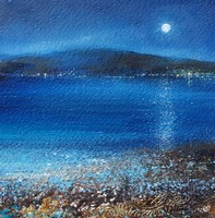 Watching the moon over Bryher, Scillies by Amanda Hoskin