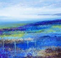 Abstract colours, a Cornish landscape  by Amanda Hoskin