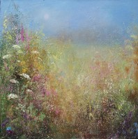 Wild flowers at Gwithian by Amanda Hoskin