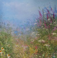 Foxgloves and wild flowers by Amanda Hoskin