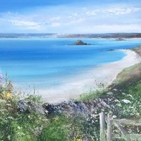A beautiful summer day on St Martins by Amanda Hoskin
