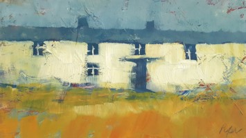 Cottage row by John Piper