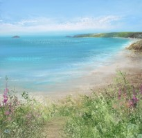 Turquoise Sea at Sennen by Amanda Hoskin