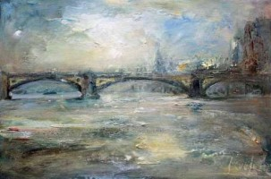 Battersea Bridge, morning light by Steve Slimm