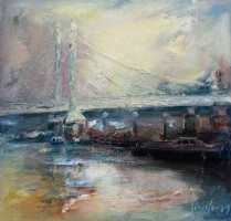 Albert Bridge, lighting up  by Steve Slimm