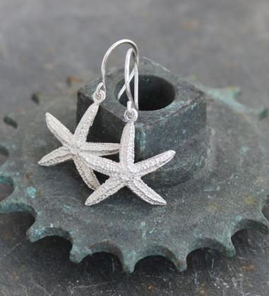 Starfish swing hooks<br>Earings from £74 by Fay Page