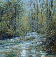 Valley stream, Luxulyan by John Brenton