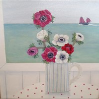Red anemones by Gemma Pearce