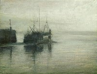 Early Morning, Leaving Newlyn by Benjamin Warner