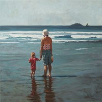 Summers hold - mother & daughter I by David Axtell