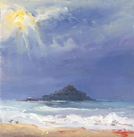 Stormy light, St Michaels Mount by Rosemary Trestini