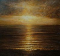 Early morning sun, Mounts Bay by Benjamin Warner