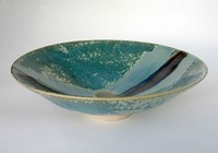 Large crystalline glaze bowl by Michael Taylor
