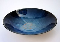Large blue bowl by Michael Taylor