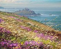 Bell Heather and Grasses, Zennor Head by Mark Preston