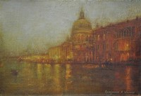 Evening lights santa Maria Della Salute   by Benjamin Warner