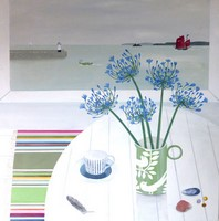 Agapanthus & St Ives   by Gemma Pearce