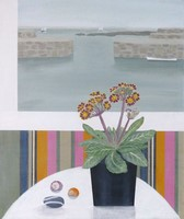 Mousehole Harbour & Polyanthus   by Gemma Pearce