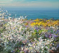 Blackthorn, violets and gorse by Mark Preston