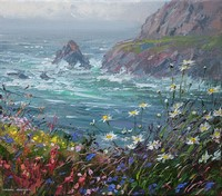 Spring flowers, Cape Cornwall by Mark Preston
