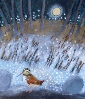 Winter Moon Woodcock   by Ingebjorg Smith