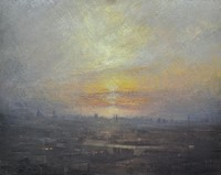 Setting sun, London by Benjamin Warner