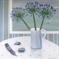Agapanthus and Sue Binns jug by Gemma Pearce