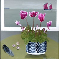 Cyclamen and Barnabus by Gemma Pearce