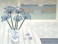 Mousehole and Agapanthus by Gemma Pearce