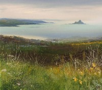 Looking Across the fields towards St Michaels Mount  by Amanda Hoskin