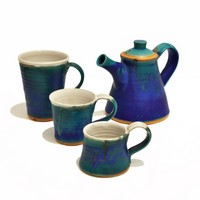 Teapot and mugs<br>&pound;41 /  &pound; 15.50 (from) by Bryony Rich
