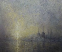 Dawn Mist Battersea Power Station  by Benjamin Warner