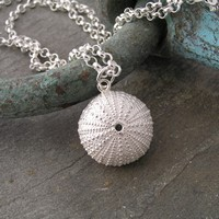 Urchin pendant<br>Pendant from &pound;60 (three sizes) by Fay Page