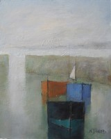 Calm morning - three small craft by Michael Praed
