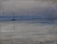 Distant yacht II, Mounts Bay  by Benjamin Warner