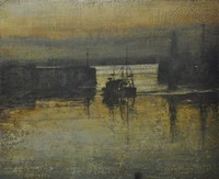 Early Morning Return, Newlyn  by Benjamin Warner