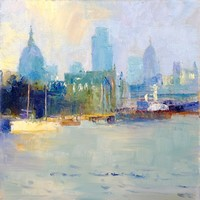 St Paul's and the Thames by Rosemary Trestini