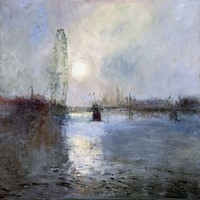 Moonlight on the Thames by Rosemary Trestini
