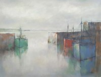 Harbour, winter reflections by Michael Praed