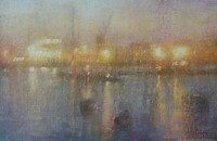 Dawn, Falmouth docks by Benjamin Warner