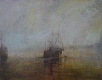 Sunrise, leaving Newlyn Harbour by Benjamin Warner