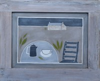Coffee in the garden by Beccy Marshall