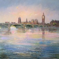 Dusk over the Thames by Michael Sanders