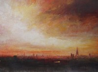 Dusk, London skyline by Benjamin Warner